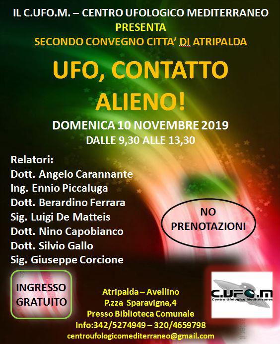 «Ufo, contatto alieno», convegno ad Atripalda - Nuova Irpinia